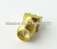 Free shipping (100 pieces/lot) RP-SMA Female edge mount PC Board PCB receptacle connector