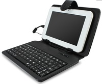 "30pcs/lot  BLACK KEYBOARD LEATHER CASE FOR 7"" ANDROID TABLET PC NETBOOK MID WiFi EPAD USB/ mini/micro CONNECTS wholesale"