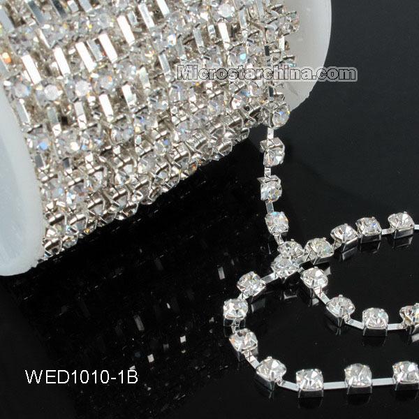 5yard Wedding Favor Diamante Banding Rhinestone Chain Cake ribbon Trimming SS16 Free Shipping(China (Mainland))