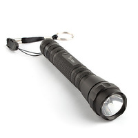 FX 114 Police 5W Aluminum LED Flashlight Torch Light 2XAA Black