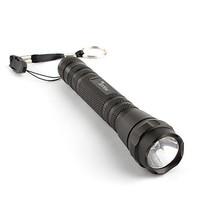 FX 114 Police 5W Aluminum LED Flashlight Torch Light 2XAA Black