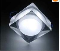 1W Acrylic Crystal Pure White LED Ceiling Lamp Downlight Light Fixture 110V/240V 20pcs