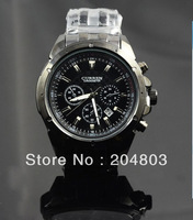 Fashionable Adjustable Stainless Steel Watchband Quartz Men's Wrist Watch