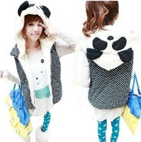 2014 spring  New  lady  animal  hoodie panda  women codes free shiping