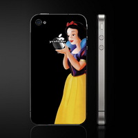 Free Shipping for iPhone 4G  Backside Unique Sticker Vinyl Decal Skin Snow White