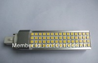 Free shipping 15W 60LED 5050SMD, G24 LED 15W , LED PL G24 60 Bulb light,G24/E27 Base for choice