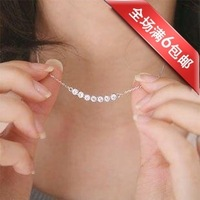 FREE SHIPPING  accessories full rhinestone short necklace starlight dot  neckchain Discounting
