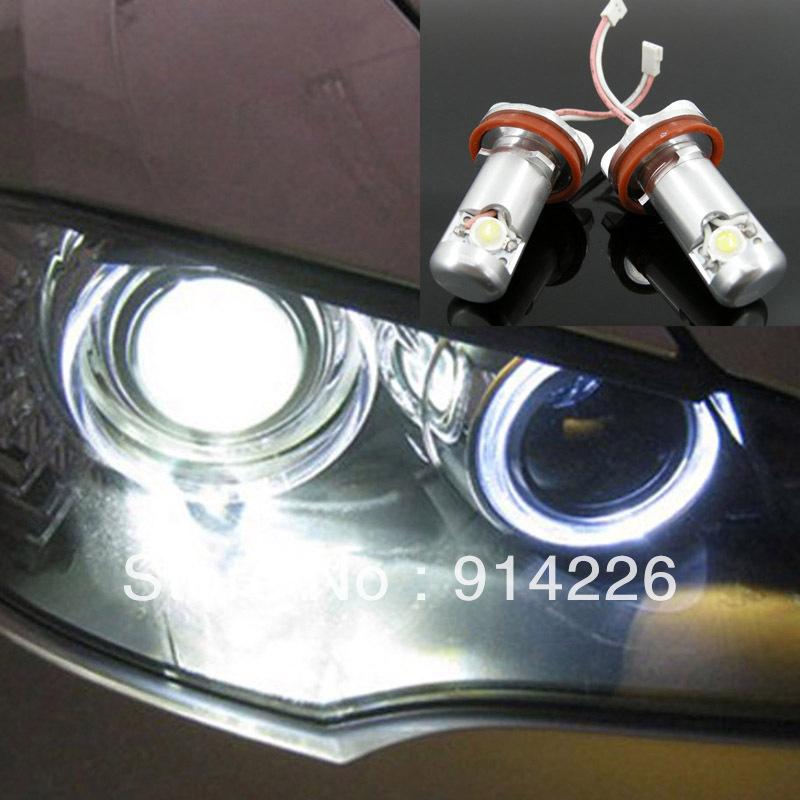 Car Auto parts 2PCS LED Angel Eyes Light 1\3\5\6\X Series E92 E93 E70 E71 E82 White(China (Mainland))