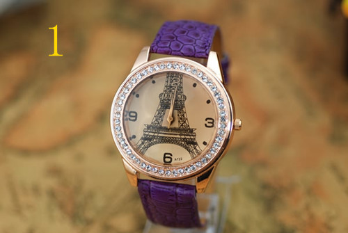 Fashion Woman Quartz Watches Leather Jewelry Eiffel Tower Watch Casual Lady Wristwatches Sports Wrist New Hot