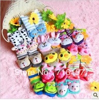 Free shipping super thick lovely cotton cartoon animal baby socks warm bedsock random ship BR03