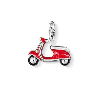 Модный European 925 silver motor scooter pendant charm (1.3*1.7 cm) fit charm bracelet ...