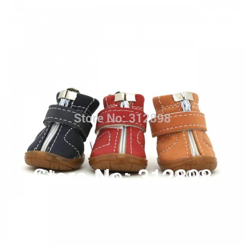 4pcs/set Dazzle Goose grass boots high quality pet dog shoes winter DS96A017(China (Mainland))