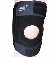 Black Stretch Elasticated Knee Brace Pad Kneepad Kneecap Freeshipping knee support  4 spring bars