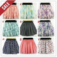 hot sell Summer chiffon skirt  ladies' skirts women's half-skirt lovely girls' skirts