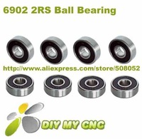 Free Shipping for 6902 2RS Rubber Seal Deep groove ball bearing 15x28x7 Shielded Miniature Ball Bearings