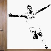 Free Shipping Wholesale  Wall stickers Home Garden Wall Decor  Vinyl Home decor Cristiano Ronaldo football C-52