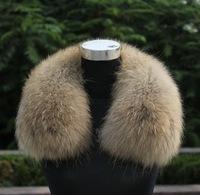 large 100%  racoon dog fur collar  female fashion luxurious thicken real raccoon  fur collar