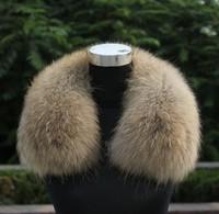 large 100%  racoon dog fur collar  female fashion luxurious thicken real raccoon  fur collar