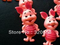 Wholesale FlatBack Resins lovely cartoon happy piggy Scrapbooking Embellishment 50pcs  Free Shipping