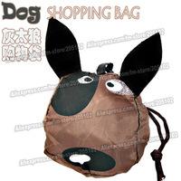 nice gift !15pcs/lot hunting dog animal folding fabric shopping bag, brown color Eco-friendly foldable handle bag ,free shipping
