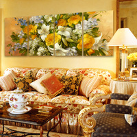 Fashion home tv wall painting decoration large flower oil painting