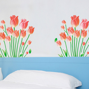Wall stickers flower vine romantic tv wall stickers FREE SHIPPING
