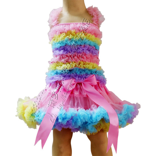 Girls-tutu-skirt-top-skirt-child-set-colorful-pettiskirt-with-matching