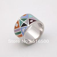 Free Shipping New Design Copper Enamel Jewelry Ring Min1pcs