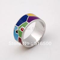 Free Shipping Newest Copper Enamel Jewelry Rings, Min 1pcs