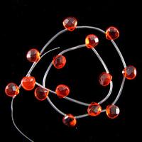 "wholesale 10mm faceted red quartz briolette beads 15"" strand"