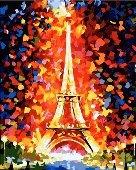 PROMOTIONAL Digital oil painting diy lovers decorative painting eiffel 40 50