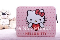 new lovely cute Hello kitty notebook soft latop  Neoprene Skin Computer Case Bag Notebook Cover Pouch for ipad 1 2  10""