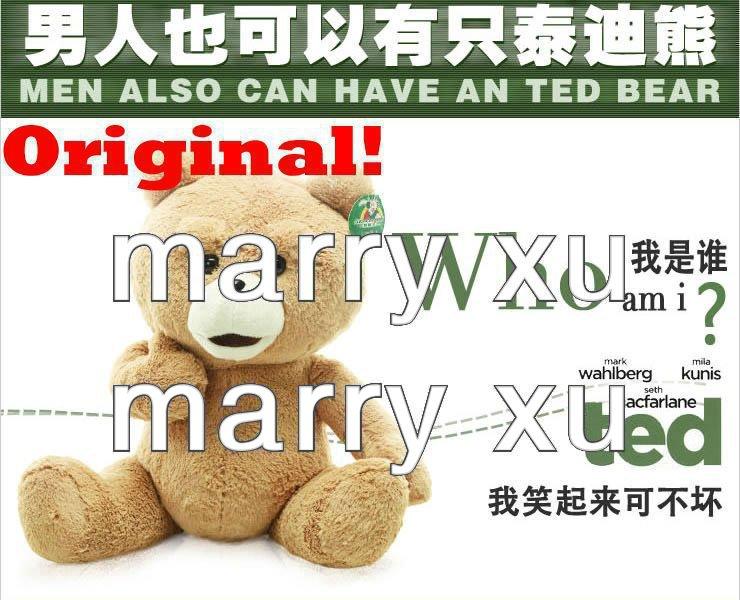 Original ! 60 cm Teddy Bear Ted Plush Toys Man's Ted Bear Stuffed Animals Christmas Gift Freeshipping!(China (Mainland))