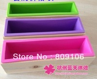 Wholesale ,toast / handmade soap cake mold / wooden box + silicone mold Combo / square 24.5CM*5.7CM*7CM,free shipping