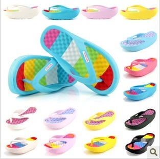 Flip flops female summer slippers sandals platform wedges swing shoes hole shoes swing shoes sandals(China (Mainland))