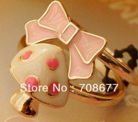 Wholesale Gold Plated Bowknot Mushroom Ring Free Shipping