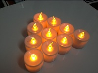 Free shipping flameless candle smokeless flickering Battery LED Candles Light 24PCS