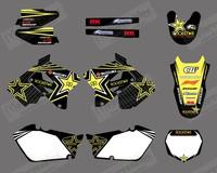 New Style ROCKSTAR TEAM DECALS STICKER Graphics for SUZUKI RM125 RM250 2001-2012(0002)