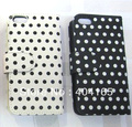 For New iPhone 5 5G Polka Dot Wallet Leather Case, with Transparent ID Card Holders