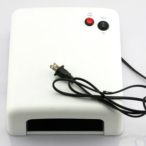 WHITE 110V UV Nail Art Gel Curing Polish Light Dryer+4 Tube Lamp 36W SJW-0401-US(China (Mainland))