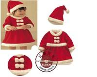 Free shipping Baby Christmas Romper Set/Kids Christmas clothing cotton boy and girl Sanda dress Masquerade  hot sales