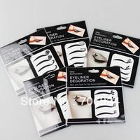16pcs/lot Eyeliner Decoration Temporary Tattoos Tattoo Stickers For Eye Art Mix Designs KH01-16