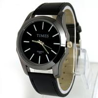 New Fashion Luxury Gentle Men's Man Analog Dress Leather Band Quartz Wrist Watches, SDP