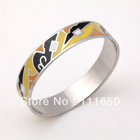 Free Shipping! New Arrival Silver Plated Enamel Jewelry Bangle, 1 pcs/pack