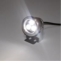 9W high power LED Spot Light Outdoor Floodlight 3x3W White LED Landscape Lighting Waterproof 10pcs