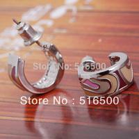 FREE SHIPPING beautiful zinc alloy  earring  enamel earring  Min 1pair