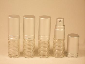 100pcs/lot Travel Refillable Spiral Aluminum Glass Perfume Spray Bottle Portable Perfume Atomizer 3ml