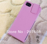 High Quality Flip Leather Case Cover for Iphone 5 5g 5th
