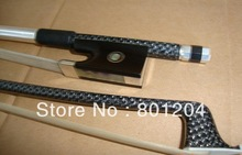 Black carbon fiber bow with silver decoration