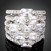 Free Shipping High Quality Imitation Diamond Crystal Ring For Birthday Gift